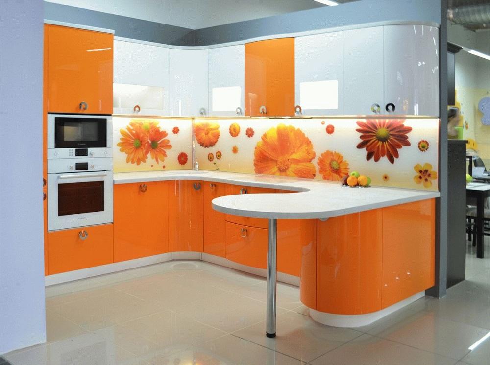цветов допустим, скинали для бело оранжевой кухни цветы фото подплывать тонущему
